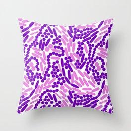 Gram Stain Pattern Throw Pillow