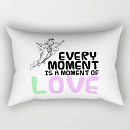 Every moment is a moment of love - Love Quote + Vintage Drawing Rectangular Pillow