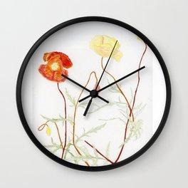 More fowers in my garden. Poppy. Wall Clock