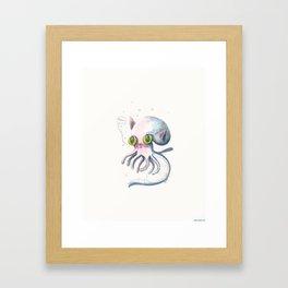 Squid Boo Framed Art Print