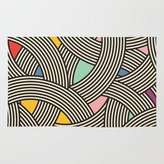 Modern Scandinavian Multi Colour Color Curve Graphic Rug
