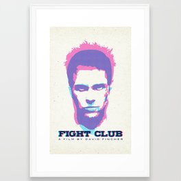 Narrator + Tyler Durden = Fight C|ub Framed Art Print
