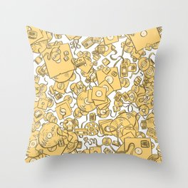 Technology! - Yellow Throw Pillow