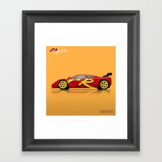 McLaren F1 GTR #10R - 1996 Presentation Livery - Side View Framed Art Print