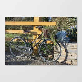 Decorative Bicycle with flowers  in basket Wexford Ireland Canvas Print