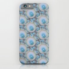 teal grey blossoms Slim Case iPhone 6s