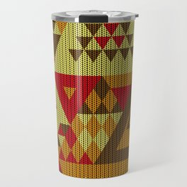 triangles-brown-red-orange-KNIT Travel Mug