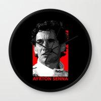 senna Wall Clocks featuring Formula One - Ayrton Senna by Vehicle