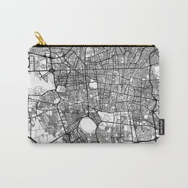 Teheran Map Gray Carry-All Pouch