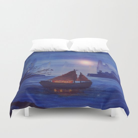 Track 13: Songs of the Sea Duvet Cover