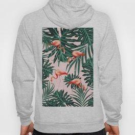 Summer Flamingo Jungle Vibes #1 #tropical #decor #art #society6 Hoody