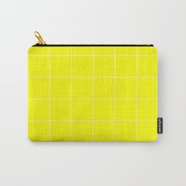 Graph Paper (White & Yellow Pattern) Carry-All Pouch