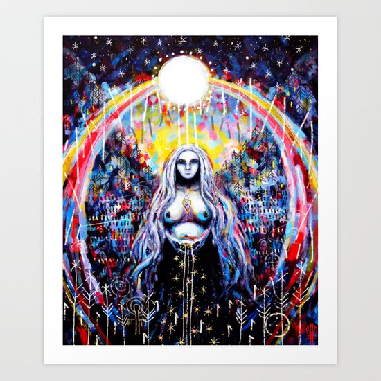 In Service To The Moon Art Print