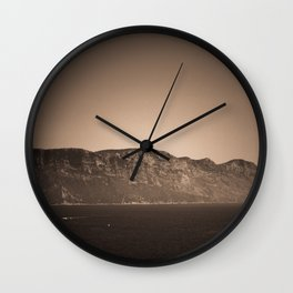 Cap Canaille near Cassis in a summer day Wall Clock