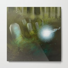 The wisp and the grave Metal Print
