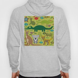 Animals Australia snake, turtle, crocodile, alliagtor, kangaroo, dingo Hoody
