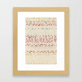 Yarns - Between the lines Framed Art Print