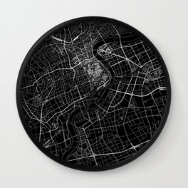 Shanghai Black Map Wall Clock