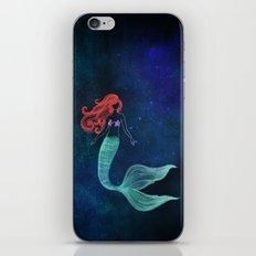 chalk mermaid iPhone & iPod Skin