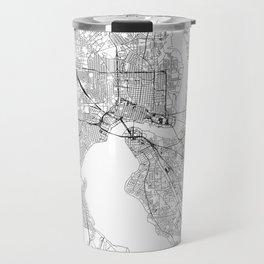 Jacksonville White Map Travel Mug
