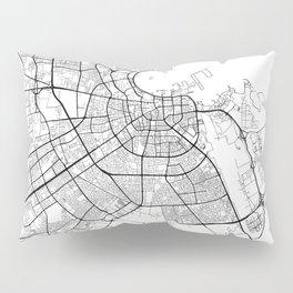 Doha Map White Pillow Sham