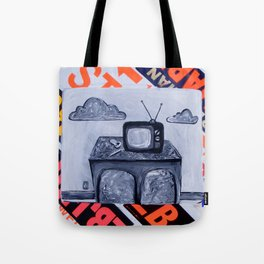 retro TV & Bowl Tote Bag