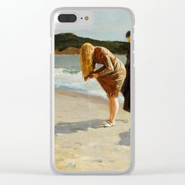 High Tide, Winslow Homer, 1870 Clear iPhone Case