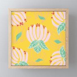 Blush Bloom Peony Lemon Framed Mini Art Print