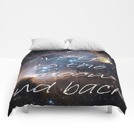 Contemporary I Love You to the Moon Stars Bedroom Decor Art A521 Comforters