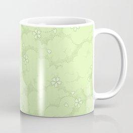 Kumori Nochi Sakura: Green Coffee Mug