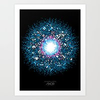 gaming Art Prints featuring Gaming Supernova - AXOR Gaming Universe by Studio Axel Pfaender
