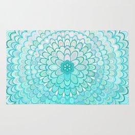 Ice Flower Mandala Rug