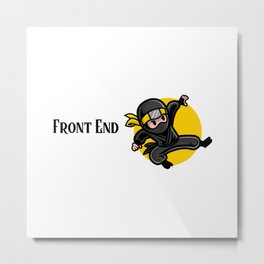 Efficient Front End Developer Metal Print