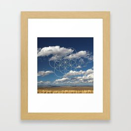 Seed of Life in Clouds Framed Art Print