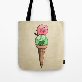 Silly ice cream Tote Bag