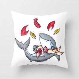 Lobstah Dinnah Throw Pillow