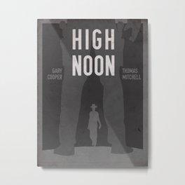 High Noon Western Movie Print Metal Print
