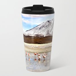 Pink Flamingos & a Peak in the Andes Travel Mug
