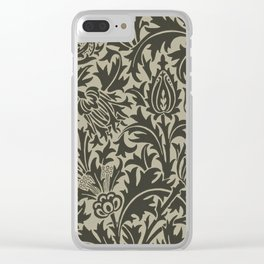 "William Morris ""Thistle"" 10. Clear iPhone Case"