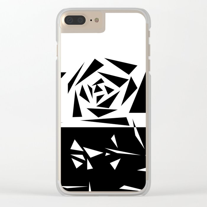 Abstract rose. black and white . 1 Clear iPhone Case