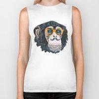 monkey Biker Tanks featuring Monkey! by  Steve Wade ( Swade)
