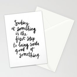 Being Sorta Good At Something Stationery Cards