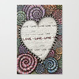 All we need is LOVE! Canvas Print