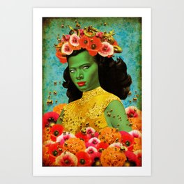 Bee Lady (Re-imagned Tretchikoff) Art Print