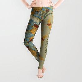 Poissons volants et vagues papier peint Cigales et pin papier peint Coquilles de nautiles bordure fr Leggings