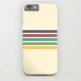 Minimal Abstract Retro Stripes 70s Style - Chichi iPhone Case