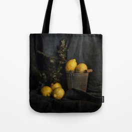 Cassic still life with lemons Tote Bag