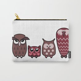 All is Owly (cherry) Carry-All Pouch