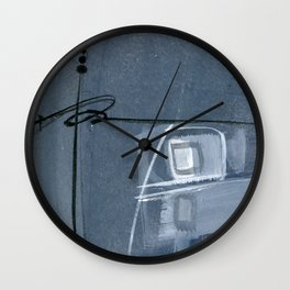 Abstraction 16 No. 6 by Kathy Morton Stanion Wall Clock