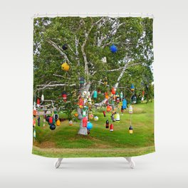 Buoy Tree of Point Prim Shower Curtain